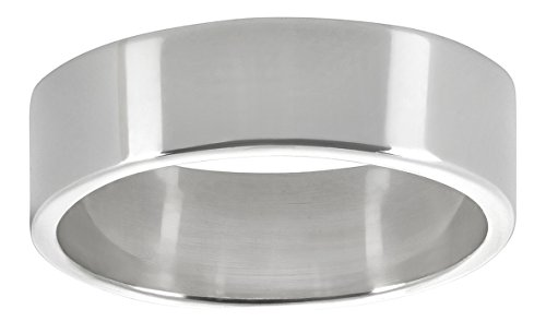 Sterling Silver 7mm Flat Band - 4