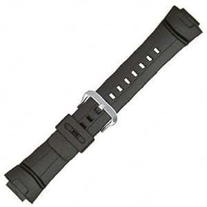 Casio Style Watchband FitsCasio G-Shock G-100,G-101,G-2300,G-2310,and GW-2310 Black Polyurethane 16mm - by JP Leatherworks