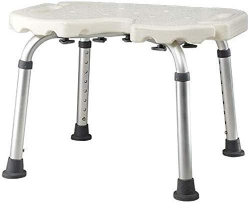 WYJW Duschstuhl Duschsitz, höhenverstellbare Drainagelöcher, mit Rückenlehne Badsitz, Badehilfe für ältere Menschen...