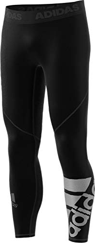 adidas Mens Alphaskin Sport Badge of Sport Long Tights