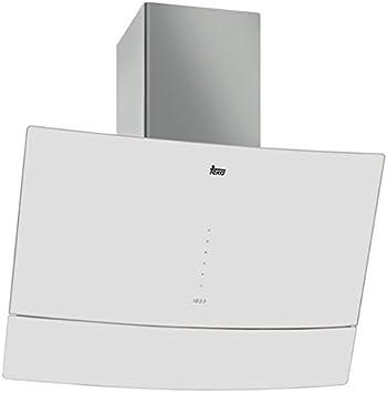 Teka DVU 590 B De pared Blanco 538m³h D - Campana (538 m³h, Canalizado, D, A, D, 59 dB): Amazon.es: Grandes electrodomésticos