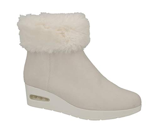 Faux 39 Bootie scamosciata in Aron Dkny pelle K3812269 Fur Wedge Taglia Lnn FPOnqI