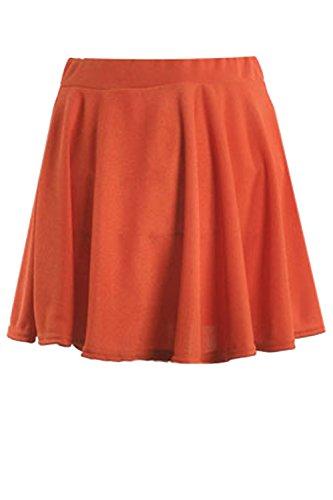 Été Yacun Occasionnel Les Orange Cocktail Mini Femmes Jupe Patineuse qSExFAgS