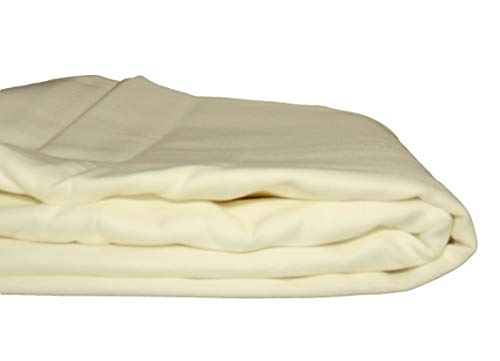 Whisper Organics Organic Cotton Flat Bed Sheet 300 Thread Count (Queen, Natural)