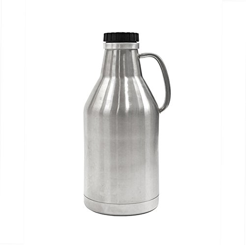 Ultimate Growler - 64 oz. Stainless Steel with Vacuum Jacket and Screw Top