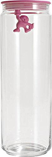 A di Alessi Gianni 8-1/2-Cup Glass Jar, Pink