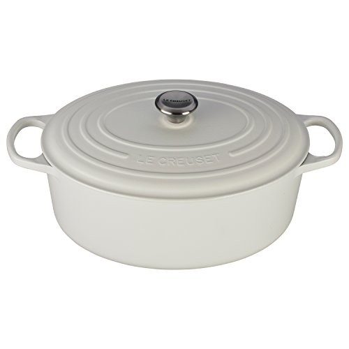 Le Creuset Signature White Enameled Cast Iron 9.5 Quart Oval Dutch Oven (Le Creates Small Dutch Oven compare prices)