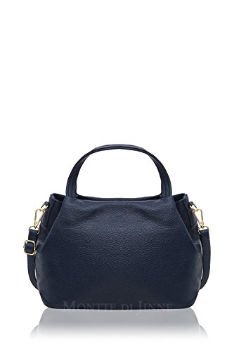 Montte Bucket Navy Shoulder Women's Cross Di Jinne Body Bag Leather Italian qXxZrXvw