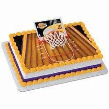 Adorno Tarta Baloncesto NBA LA Lakers, cumpleaños ...
