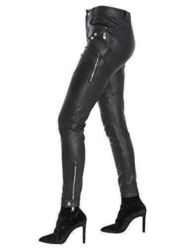 484238q5ksg1000 Cuir Noir Alexander Femme Pantalon Mcqueen EwZCqAwxBO