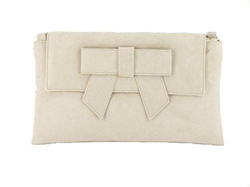 187bd41686 LONI Womens Clutch Bag Shoulder Bag Wristlet in Suede Faux Leather in Ivory  Cream - Buy Online in Oman.