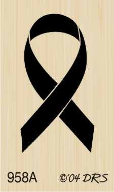 Mini Remembrance Ribbon Rubber Stamp By DRS Designs 4336992014