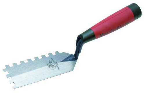 MARSHALLTOWN The Premier Line 52SND 5-Inch by 2-Inch Square Notched Margin Trowel Notched Trowel