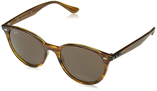 Ray-Ban RB4305 Round Sunglasses, Striped Red Havana/Dark Brown, 53 mm (Rote Ray-ban Sonnenbrillen)