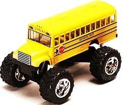 Monster School Bus  Die Cast Yellow School Bus Large 5  Long With Monster Wheels  By International By International