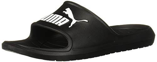 PUMA Men's DIVECAT V2 Slide Sandal, Black White, 10 M US (Minion Men Slippers)