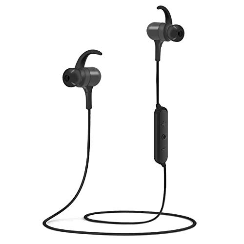 Bluetooth Headphones, KOVEBBLE IPX7 Waterproof Wireless Sport Earphones, DSP Dual-Cavity Acoustic System, HiFi Bass Stereo with Mic, 8-10 Hours, Bluetooth 5.0 Fast Pairing, Magnetic Design