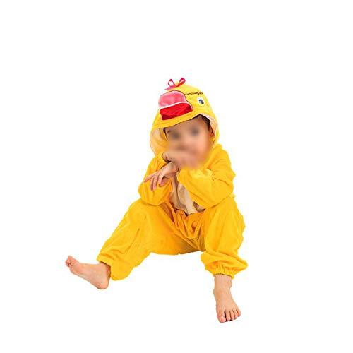 Dance Art Kindergarten Children's Halloween Cosplay Jumpsuit Costume,Small Yellow Duck [Long Body],120cm
