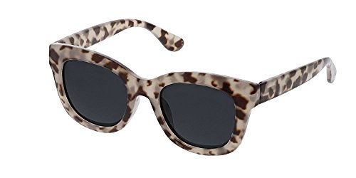Glass Stage (Peepers Women's Center Stage Polarized Sun-Gray Tortoise +0.00 Round Sunglasses, 47 mm)
