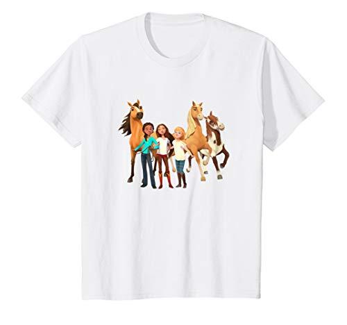 Kids DreamWorks Spirit Riding Free - All Character Kids T-Shirt (Tshirt Spirit Free)