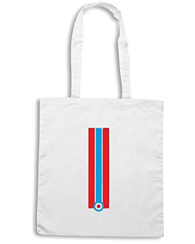 T-Shirtshock - Bolsa para la compra OLDENG00213 red blue stripes Blanco