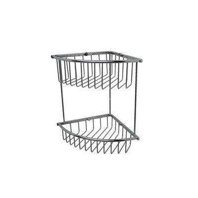 Essentials Double Corner Wire Soap Basket (Basket Valsan Soap)