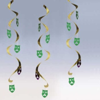 [Creative Converting Dizzy Danglers Masks Hanging Party Decor] (Drama Mask Costume)