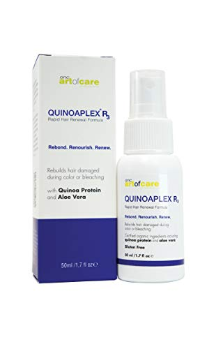 ONC artofcare QUINOAPLEX R3 Rapid Hair Renewal Formula 1.7 fl. oz. 50 mL Organic Based Bond Builder and Protein Conditioner, Restores Hair Damaged by Chemical Color or Beaching with Quinoa Protein 1
