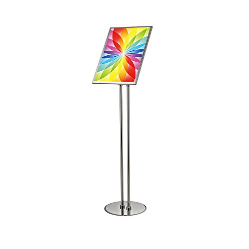 S-Display Poster Sign Holder Floor Stand Pole Height Adjustable Tilting Frame With double pole sign stand for 11 x 17 inch ()