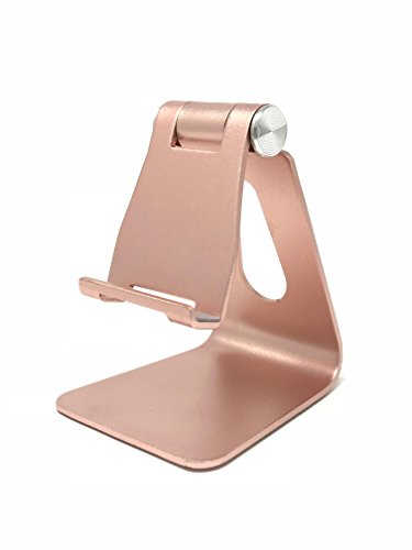 Adjustable Cell Phone Stand Sturdy Aluminum Mobile Stand for iPhones, iPad and Most Android Smartphones/Tablets | Anti Slip and Anti Scratch Rubberized Foot and Nest (Pink) by Mobile Mate (Image #5)