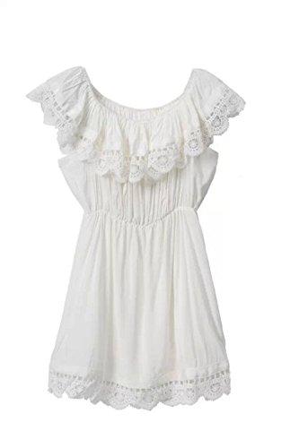 scollo Vestito White da spalline Buy Go in barca pizzo senza Go donna con Go Value a Wn18Uxqn