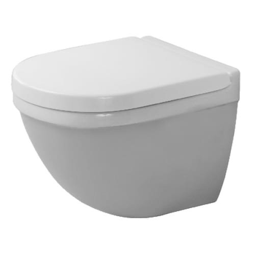 Duravit 222709 Starck 3 1.6 GPF Round Toilet Bowl Only - Less Seat, White by Duravit