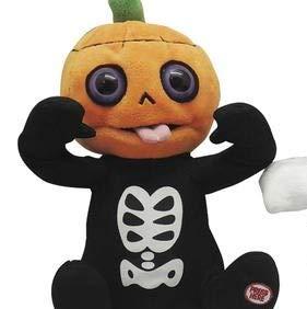 Halloween Talking Skeleton Head (Big Lots Stores Halloween Animated Giggling Razzing Talking Plush Stuffed Skeleton Pumpkin)