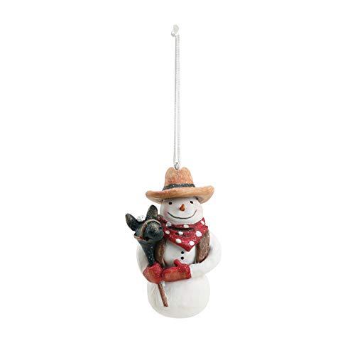 DEMDACO Cowboy Snowman 1.5 x 2.5 Inch Resin Christmas Ornament