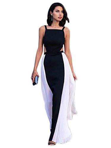 best cheap e5f13 0ee26 Vestito elegante da donna, lungo, colore: bianco e nero, con ...