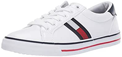 TOMMY HILFIGER Women's ONEAS Sneaker, White, 9 M US