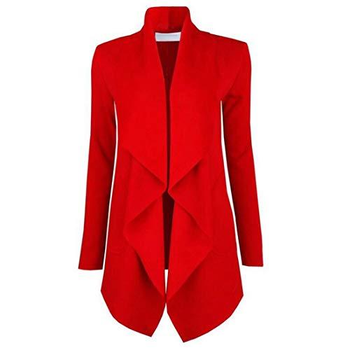 Huicai La moda de mujer outwear Topcoat Otoño invierno de manga larga elegante cardigan frente amplia solapa moda mujer...