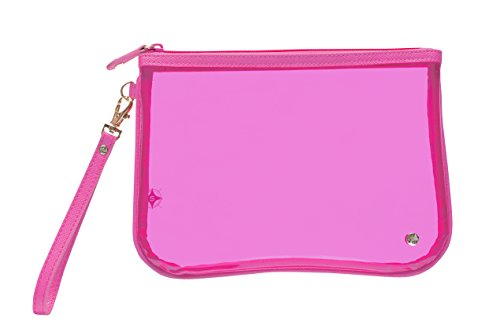 Stephanie Johnson Women's Miami Large Flat Wristlet, Neon Pink -