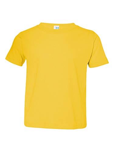 Rabbit Skins Toddler Fine Cotton Jersey T-Shirt - Yellow - 3T -