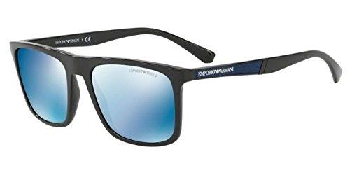 Armani EA4097 Sunglasses 501755-56 - Black Frame, Mirror Blue EA4097-501755-56