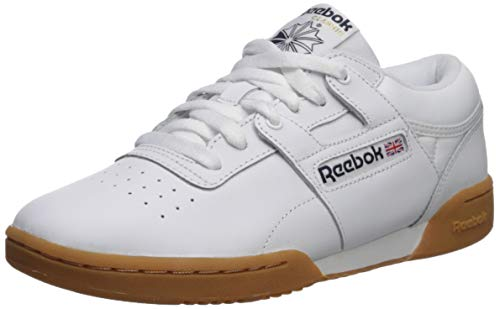 Reebok Men's Workout Low Sneaker, White/Gum, 5.5 M US ()