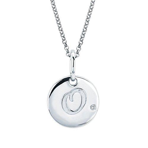 Little Diva Diamonds Sterling Silver Diamond Accent Disc 'O' Initial Pendant ()