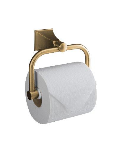 KOHLER K-490-BV Memoirs Toilet Tissue Holder with Stately Design, Vibrant Brushed (Tissue Holder Vibrant Brushed Bronze)