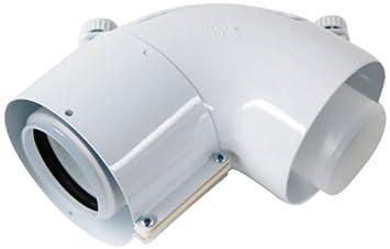 87 Grad Vaillant 303910 Bogen konzentrisch PP 60//100 mm