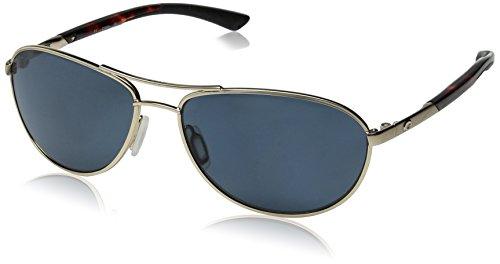 Costa Del Mar KC Women's Polarized Sunglasses, Rose Gold/Gray 580P, - Mar Costa Del Aviator