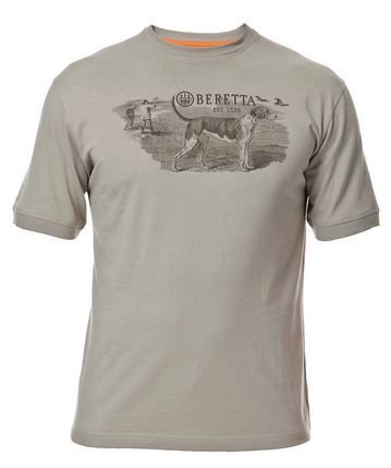 Beretta Hunting Dog Scene T-Shirt,Chinchilla,Extra Large (Scene Dog T-shirt)