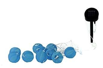 Galix 1281 - Guirnalda solar con 10 bolas de tela (7 x 23,15 cm)