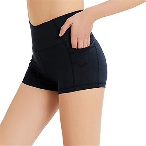 "Jimilaka Women's 8"" /5"" /2"" High Waist Workout Tummy Control Pocket Yoga Compression Shorts"