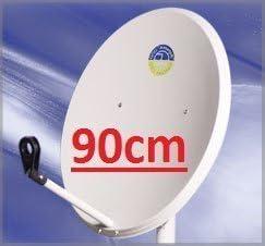 Antena Parabólica Offset 90 cm acero. Color Blanco: Amazon.es ...