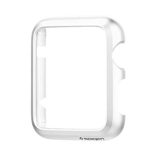 Spigen Thin Fit Apple Watch Case with Premium Matte Finish Coating for Apple Watch 42mm 2015 - Smooth White